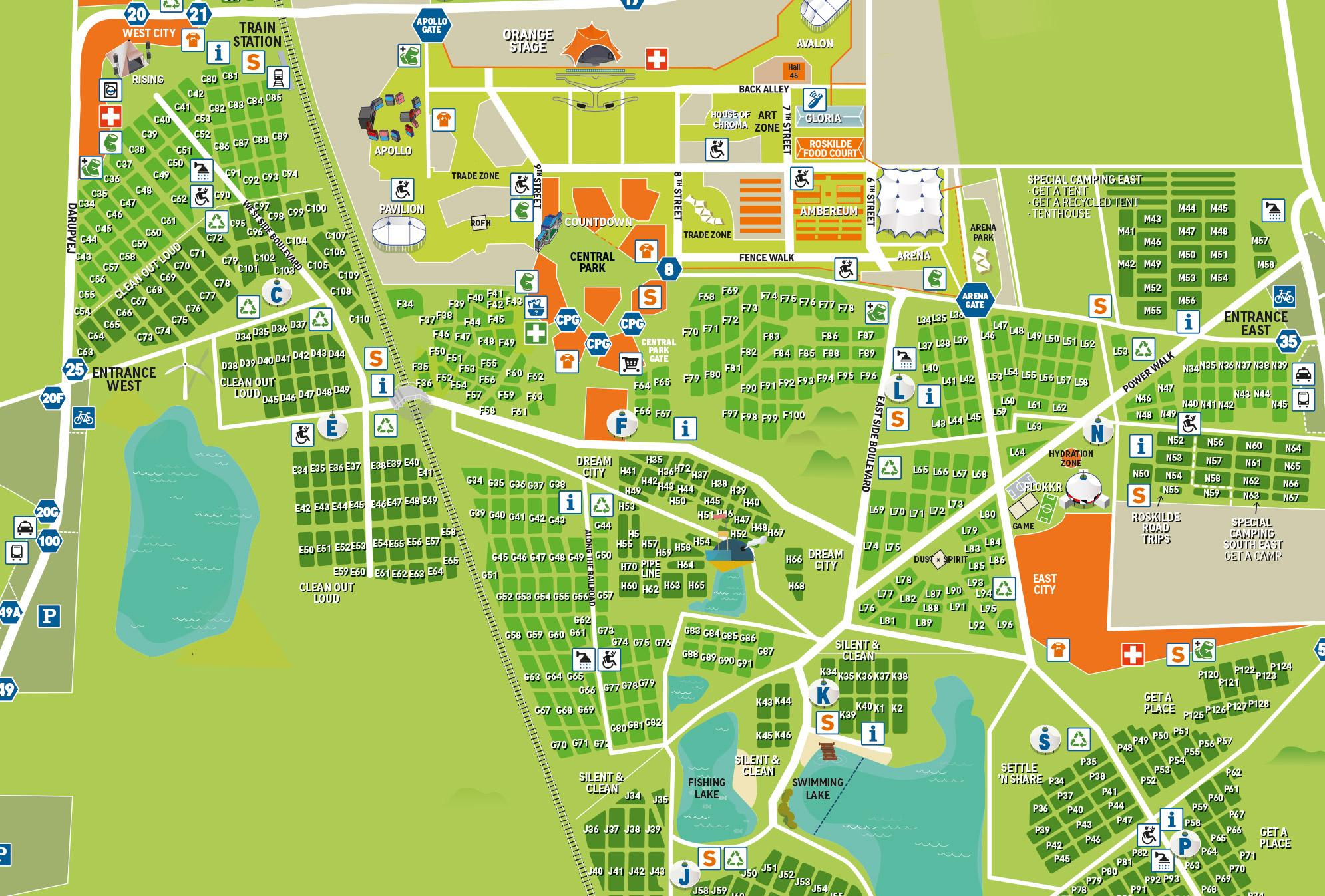 roskilde festival camping kort