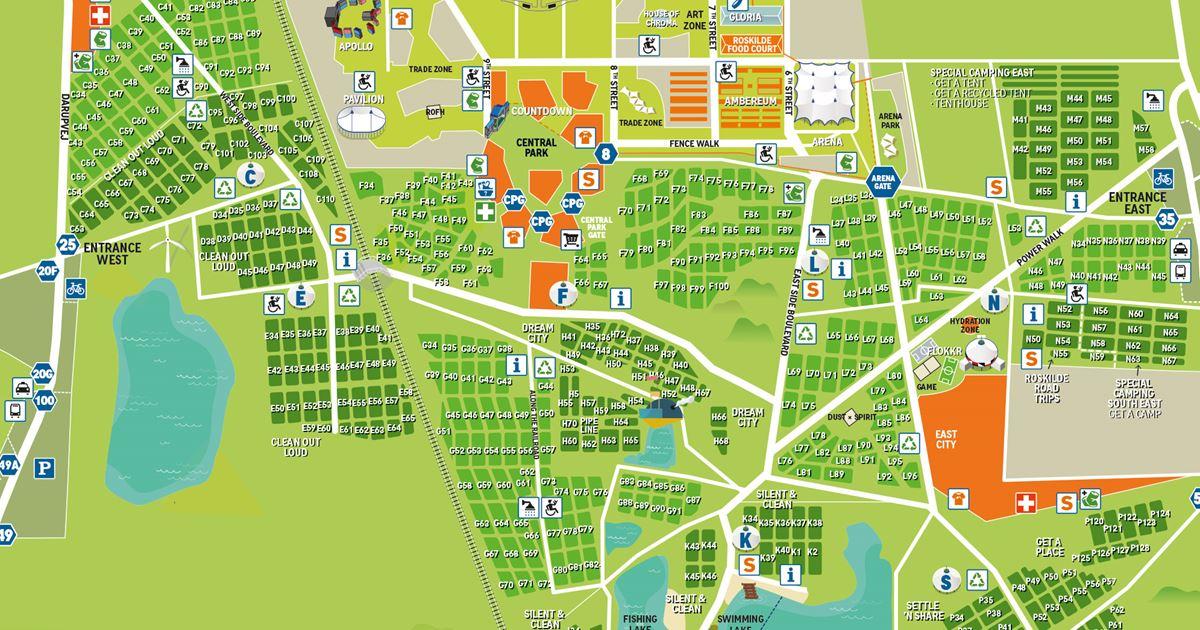 Map Roskilde Festival